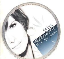SILVIA MEZZANOTTE CD single PROMO 1 traccia TU SEI GIA POESIA 2006 sigillato