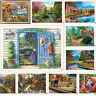 DIY 5D Diamond Painting Embroidery Village Cross Crafts Stitch Kit Home Decor