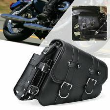 Right Motorcycle Side Saddle Bag PU Black Tool Bag For Harley Davidson Sportster