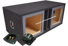 "Car Audio Dual 15"" Vented Square Paintable Sub Box fits Kicker L7 Subwooofer"
