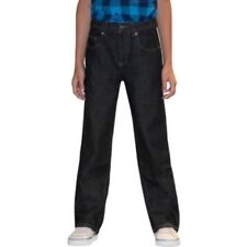 Faded Glory Boys Relaxed Jeans Black Size 5 Regular Adjustable Waist NEW