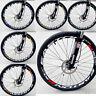 4 Stk Fahrrad Aufkleber Rad Felgenaufkleber Abziehbild Tool Classic Blau Rot