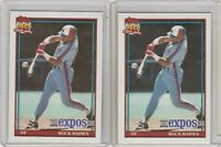 1991 Topps Glow Card Back UV Variant Bold Logo Tim Raines #360 Lot of 2