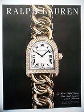 PUBLICITE-ADVERTISING :  RALPH LAUREN Petite Link Timepiece  2015 Montres