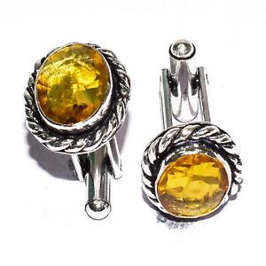 Lemon Topaz 925 Sterling Silver Jewelry Cufflink