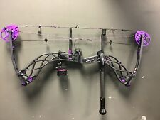 """Bowtech Carbon Rose Right Handed 22.5-2"""" 30-40 LB All Black with purple accent 3"""