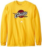 New Cleveland Cavaliers Adidas Primary Logo Gold Long Sleeve Shirt