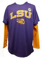 New LSU Tigers YOUTH Sizes S-M-L-XL Purple Yellow Poly Long Sleeve Shirt $22
