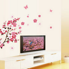 Room Peach Blossom Flower Butterfly Wall Sticker Vinyl Art Decal Decor Mural RK