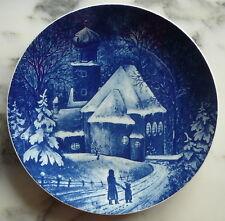 === Teller / Weihnachtsteller Porzellan 1976 Kochel am See = Royal Bavaria