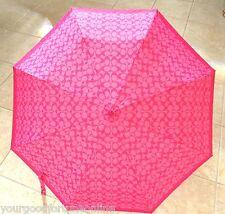 NWT Coach Signature C Umbrella Auto Compact Pink/Magenta Travel NEW 65556