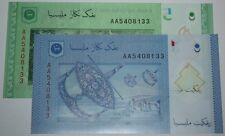 (PL) RM 1 + RM 5 AA 5408133 UNC, MALAYSIA 2012 ZETI SAME PREFIX & NUMBER OFFER