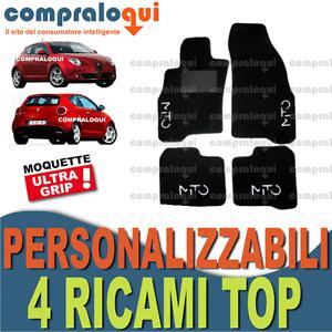 TAPPETI PER ALFA ROMEO MITO TAPPETINI AUTO SU MISURA + 4 DECORI TOP RICAMATI