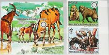 Upper Volta obervolta 1984 961-62 u 658-59 WWF Baboons Vultures birds Rotary mnh