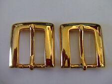 Lot Of  2 Brass End bar/Harness Buckles USA