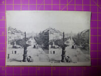 Antique Stereoscope Photograph / Postcard Bohemia Wenzelplace Prague Stereoview