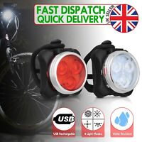 Bike Lights Mountain Cycle Bicycle Cycling Front light Set Rechargeable USB LED