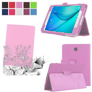 Slim Flip Leather Stand Case Cover For Samsung Galaxy Tab E 8.0 9.6 T377 T560