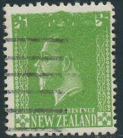 NEW ZEALAND 1925 Georg V 1/2 d green VFU MAJOR ERROR & VARIETY: DOUBLE PRINT