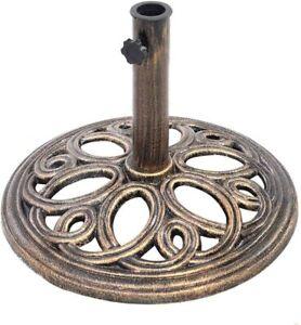 Sonnenschirmstände Schirmständer Balkonschirmständer Gusseisen Bronze