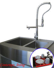 "36"" Stainless Steel Farm Apron Kitchen Sink 16 gauge Double Bowl"