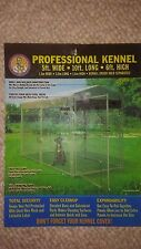 DOG BOB Professional Dog Kennel 5ft. Wide x10ft. Long x 6ft. High w/kennel cover