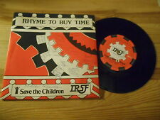"7"" VA Rhyme To Buy Time - Save The Children (2 Song) INLAND REVENUE Chris Stern"
