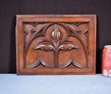 *Antique Neo Gothic Carved Architectural Trim Panel in Solid Walnut Wood Salvage