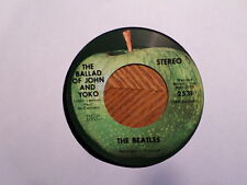 APPLE 45 RECORD/BEATLES/BALLAD OF JOHN YOKO/OLD BROWN SHOE/ CAPITOL LOGO/ EX