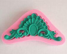 Art Deco Cake Decorating Fondant Sculptured Flower 3D Wedding Silicone Mold