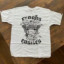 New RARE Vintage 2008 Crooks & Castles 'Goth Medusa' T-Shirt Tee White Men's XL