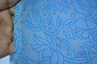 Hand Block Print Blue Fabric Cotton Floral Material Craft Sewing By 3 Yard ~