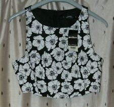 Miss Selfridge Petites Ladies Black & White Bustier Top ~ Size 10 ~ NWT ~ *£25