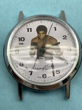 VINTAGE 80's MUHAMMAD ALI THE GREATEST BRADLEY WIND UP SWISS WATCH FACE