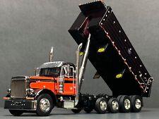 1/64 DCP BLACK/RED 379 PETERBILT QUAD AXLE MAC DUMP TRUCK