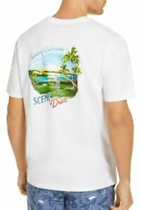 Tommy Bahama Mens T-Shirt Classic White US 3XL Scenic Drive Graphic $49- 103