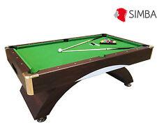 7 Ft Pool Table Billiard Playing Cloth Indoor Sports billiards table green Annib