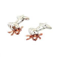 High Detailed Hermit Crab Cufflinks & Organza Pouch