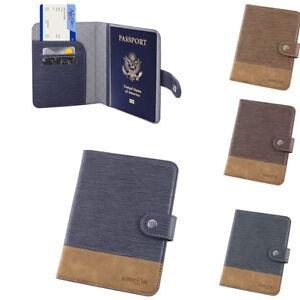Passport Holder Case Cover, premium Leather RFID Blocking, Wallet