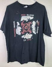 Red Hot Chili Peppers Mens XL Black Cotton Tour  T-shirt Blood Sugar Sex Magic