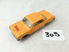 Buen Matchbox Lesney #20C Chevrolet Impala Taxi diecast 1966 Naranja agua peptonada tamponada