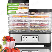 5/7 Trays Stainless Steel Food Dehydrator For Beef Jerky, Herbs, Fruit Leather