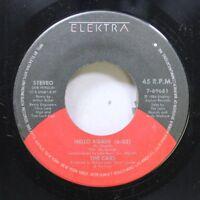 Rock 45 The Cars - Hello Again / Hello Again On Elektra