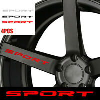 4PC SPORT Style Car Door Rims Wheel Hub Racing Sticker Graphic Decal Accessories