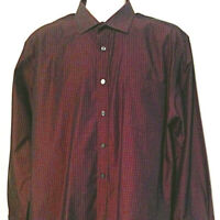 Pronto Uomo Shirt Burgundy Wine Sz XL