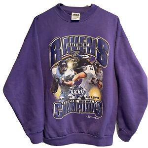 Vintage XXXV Super Bowl T-Shirt 2001 Baltimore Ravens Champions Ray Jamal Lewis