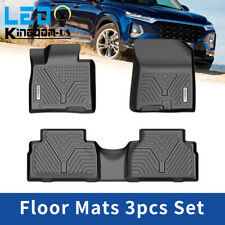 Coverking Custom Fit Front and Rear Floor Mats for Select Hyundai Accent Models Black Nylon Carpet CFMBX1HI7062