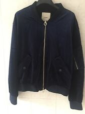 Pull And Bear Bomber Giacca Blu Navy Large