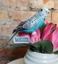 "Faux Parakeet Budgie Bird Fake Replica Looks Real Blue NWT  8"""
