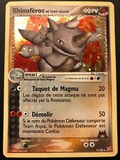 Carte Pokemon RHINOFEROS 11/95 Holo Team Aqua vs Magma Bloc EX Française NEUF
